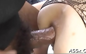 Oriental cowgirl with big anal intercourse