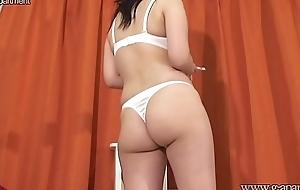 Japanese Petite Schoolgirl Changes into Cute Bikini