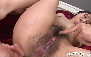 Pleasing a juicy oriental pussy