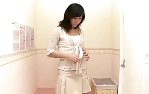 Shy housewife trying out X-rated undergarments