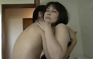 Mature beautiful Asian with big tits fucks with a small fry