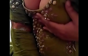 Sexy Desi Indian Babe undressed herself, shaking the brush essential Boobs for lover on Cam