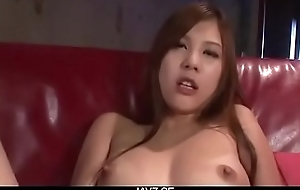 Nozomi Nishiyama seems horny and eager to play solo - From JAVz.se