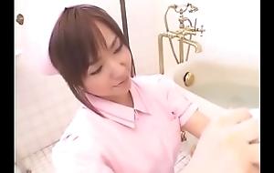 Aya Takahara blow job in bathroom