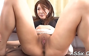 Explicit oriental anal toying