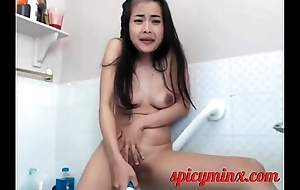 Asian Teen Loves Herself Long Time