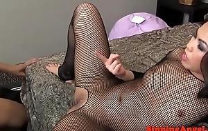 Stockinged asian femdom doggystyled by guy