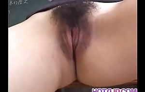 Mai Hanano with spicy tits rides phallus
