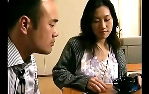 Japanese hot wife cheats  with neighbor when her pinch pennies is sleeping