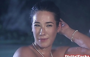 Glamour asian pounded less front of voyeurs