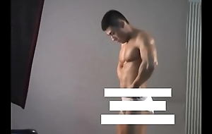 Meili Series - Muscular Sportswoman Hunk Showing His Hot Body ( Behind Be imparted to murder Scene )
