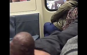 Sexy Asian Catches Wanker Jerking Steadfast Cock on a Public Bus pt 1