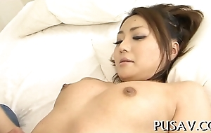 Japanese chick gets a hard fuck