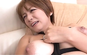 Wild cowgirl riding foreigner breasty oriental