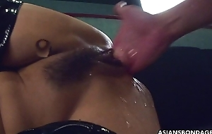 Fucking say no to wet cunt as A she wears say no to PVC scullion