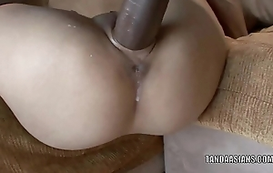 Asian hottie Miley Manor house gets her tiny twat fucked hard