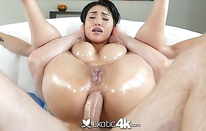 Exotic4K - Busty asian Jayden Lee lubed ass fucked hard