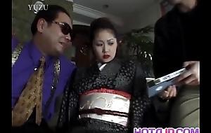 Miho Aikawa gets vibrator in hairy vagina