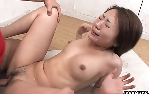Asian slut has a dick plenteous will not hear of pussy in eradicate affect class room