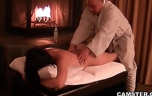 Asian gets their way body massaged and creampied