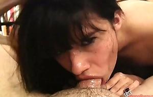 Goth Latina Judas loves sucking cock