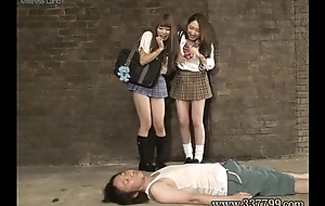 MLDO-098 Masochist man seen a penis in rags woman. Mistress Old bat