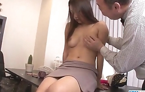 Asian babe Satomi Suzuki is ready to fuck their way boss