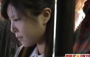 Japanese in emphasize age teenager having sex anent nurture