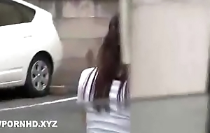 Japanese housewife fucked outside burnish apply house husband is inside