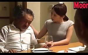Japanese wife quibbling with tighten one's belt friend