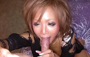 Riku Hinano has her big nipples eaten and her pussy banged