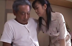 japanese wife widow takes carefulness of father in law  2