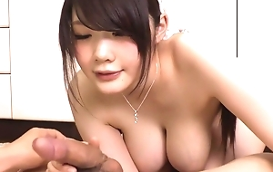 Amazing Japanese whore Rie Tachikawa close by Hottest JAV uncensored Blowjob clip