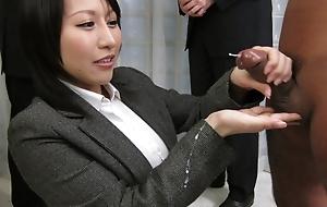 Amazing Japanese whore Yuuna Hoshisaki in Hottest JAV fullest extent Handjobs clamp