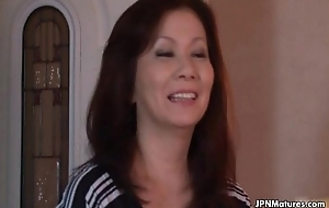 Sexy added to horny Japanese grown-up mom