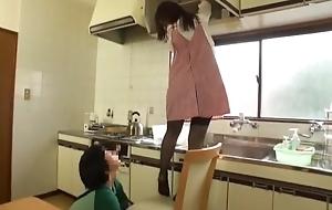 Take it on the lam Japanese girl Kuroki Ichika in Crazy Stockings JAV scene