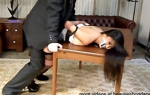 Asian Secretary Has BDSM Fuck WIth Boss