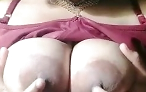 Giant Indian Big Boobs Aunty With Bra