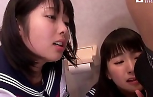 Two Japanese Babyhood Fuck in Bathroom