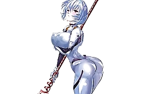 [Hentai] Rei Ayanami of Evangelion has huge breasts and big tits, and a racy ass !
