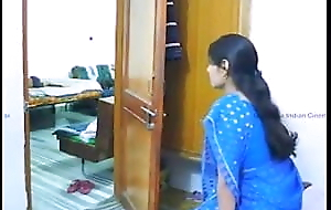 Hot bhabhi fucks with me in my bedroom in blue saree, part 1