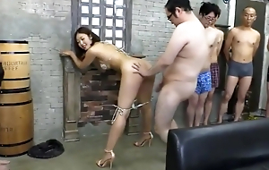 Pornstar and amateur creampie gangbang
