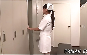 Slender japanese baby magnetizes with wicked blowjob