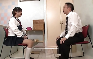 Hot Petite Japanese Teen In Schoolgirl Uniform Fucked During Interview - Part 5 / 5