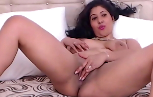 beautiful young Indian hot girl fingers her hairy pussy