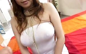 Busty Waka Sato enjoys cock in her tight holes