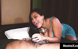 Busty Asian Mommy Maxine X Mouth Fucks A Throbbing Big Cock!