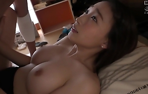 Busty Asian Nurse In Black Lingerie Sucking A Pink Dick