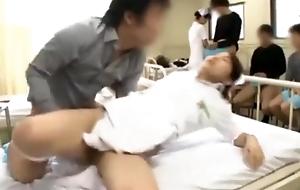 Japanese hospital nurse fucks 3