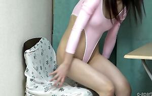 Mika Kurosaki High-Leg Leotard Cameltoe